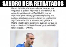 Enlace a Tremendo ZASCA de Sandro tras inventarse declaraciones suyas tras el partido vs Real Madrid