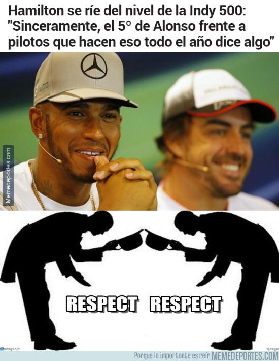 978021 - Hamilton se ríe del nivel del Indy y de Alonso