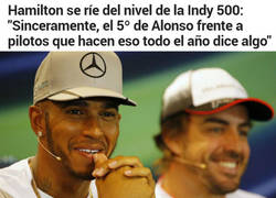 Enlace a Hamilton se ríe del nivel del Indy y de Alonso