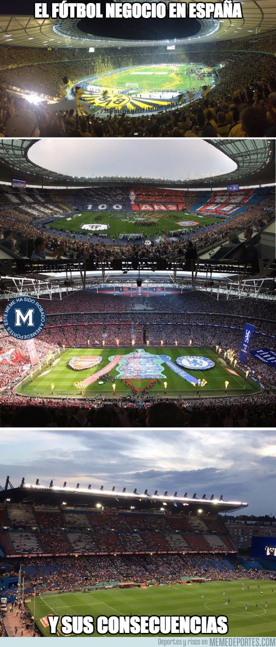978304 - España y la vergüenza mundial en afluencia de espectadores en la final de Copa