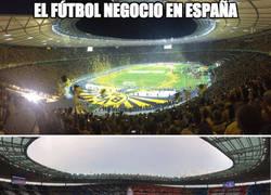 Enlace a España y la vergüenza mundial en afluencia de espectadores en la final de Copa