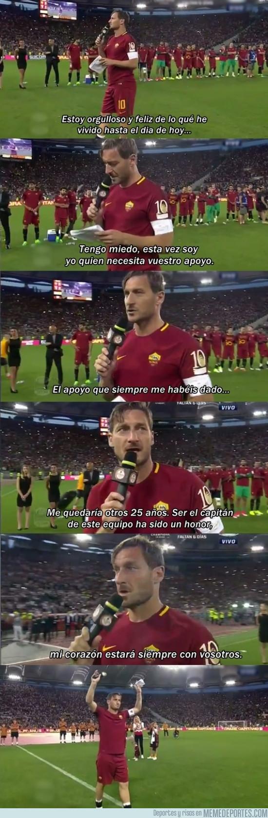 978662 - el ultimo discurso de Totti en el Olimpico de Roma