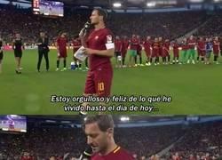 Enlace a el ultimo discurso de Totti en el Olimpico de Roma
