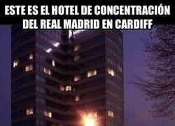 Enlace a ¿No había más hoteles en Cardiff?