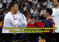 Enlace a Cristiano Ronaldo se sincera y da su opinión sobre Messi