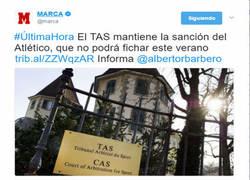 Enlace a El TAS mantiene la sanción del Atlético, que no podrá fichar este verano