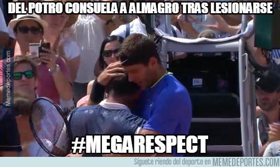 979187 - Del Potro consuela a Almagro tras lesionarse