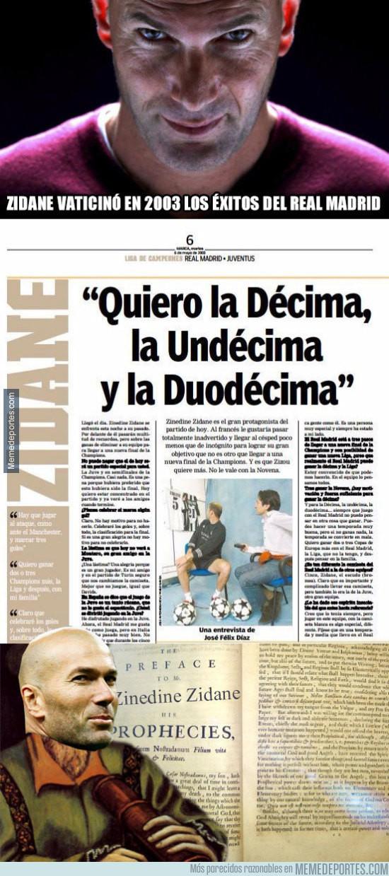 979304 - Zidane vaticinó en 2003 los éxitos del Real Madrid y según esto, ganará la 12a