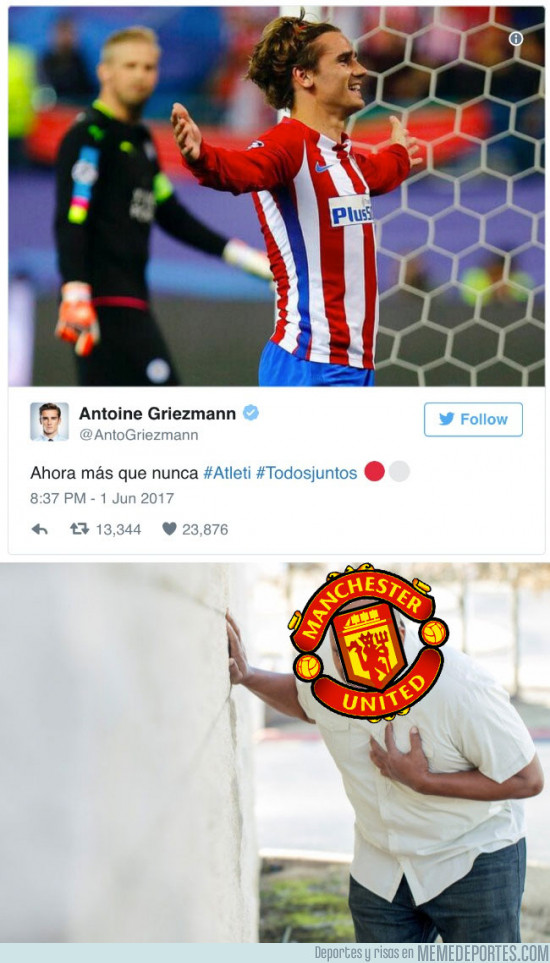 979311 - Griezmann acaba de romper el corazón de todos los fans del Manchester United