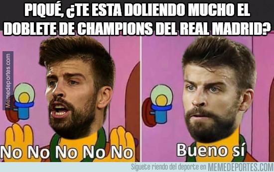 980683 - Piqué, ¿te esta doliendo mucho el doblete de Champions del Real Madrid?
