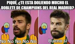 Enlace a Piqué, ¿te esta doliendo mucho el doblete de Champions del Real Madrid?