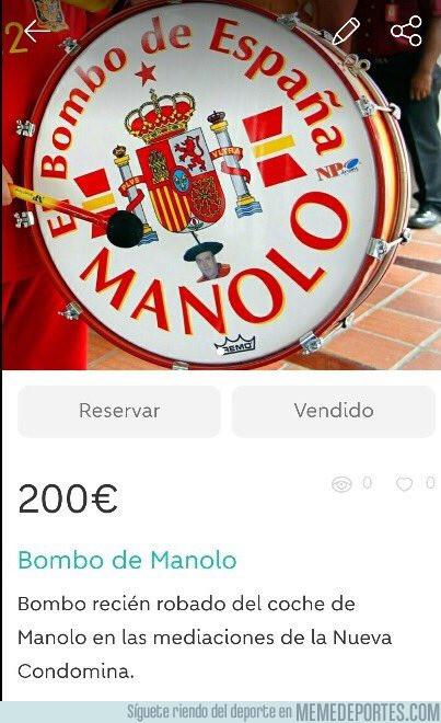980870 - Aparece en Wallapop el bombo de Manolo robado ayer en Murcia con un inquietante mensaje