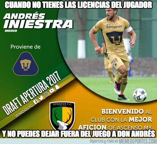 980980 - En Centroamérica hay un jugador llamado Andrés Iniestra. Vivir para creer