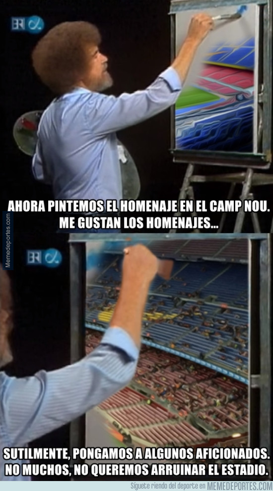 981463 - Bob Ross pintando el Camp Nou