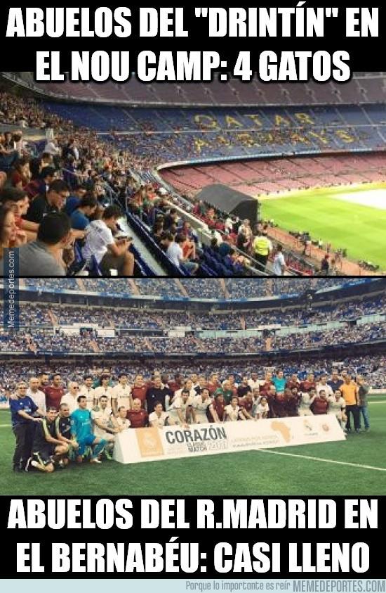 981499 - Diferencia de público entre un partido de Leyendas del Real Madrid y del Barça