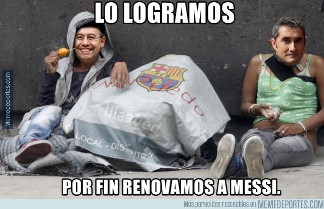 981558 - La renovación de Messi será cara para el Barça