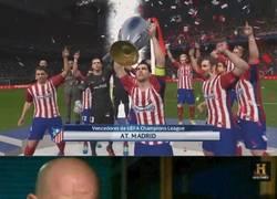 Enlace a El Atlético ganando una Champions