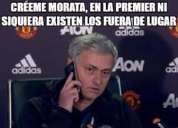 Enlace a Mourinho intentando convencer a Morata