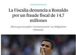Enlace a ¡Cristiano Ronaldo denunciado por defraudar 15 millones de €!
