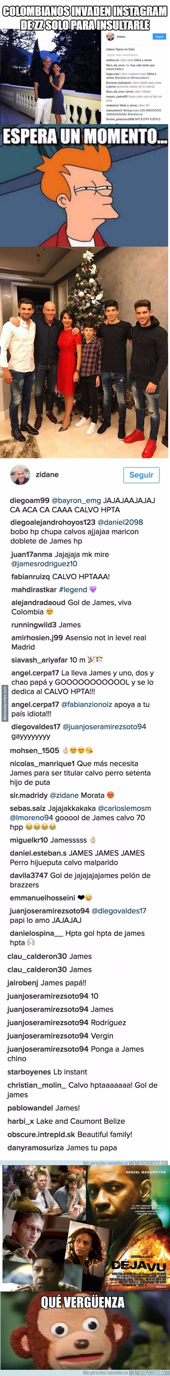 981944 - Los colombianos llenan el Instagram de Zidane de insultos