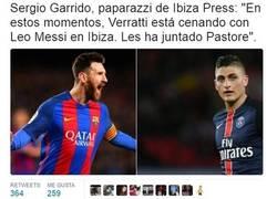 Enlace a Una supuesta cena entre Messi y Verratti enciende todos los fogones