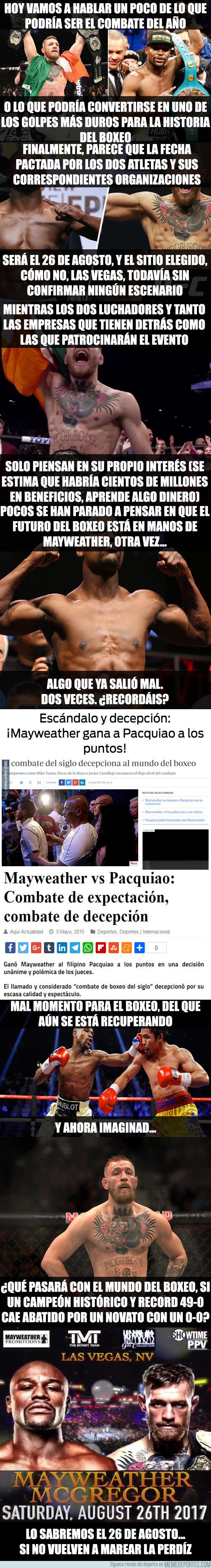 982043 - Mayweather vs McGregor, ¿combate del año o caída del año?