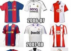 Enlace a La evolución de las camisetas del Barça, Madrid y Atleti en la ultima década