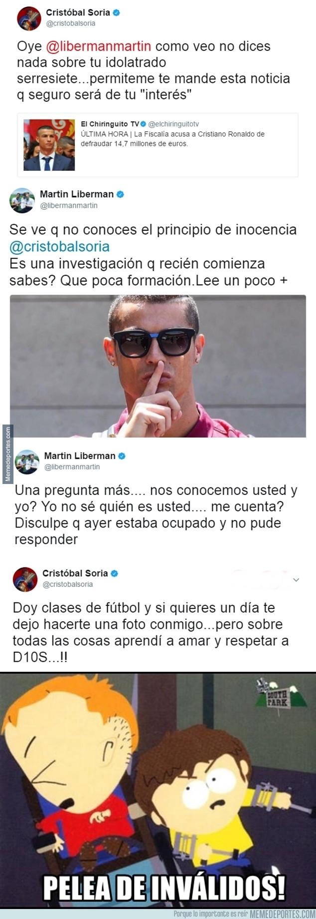982159 - La gran pelea en Twitter entre Martín Liberman y Cristóbal Soria