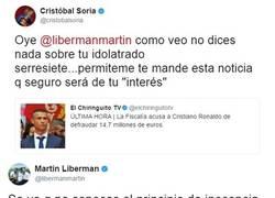 Enlace a La gran pelea en Twitter entre Martín Liberman y Cristóbal Soria