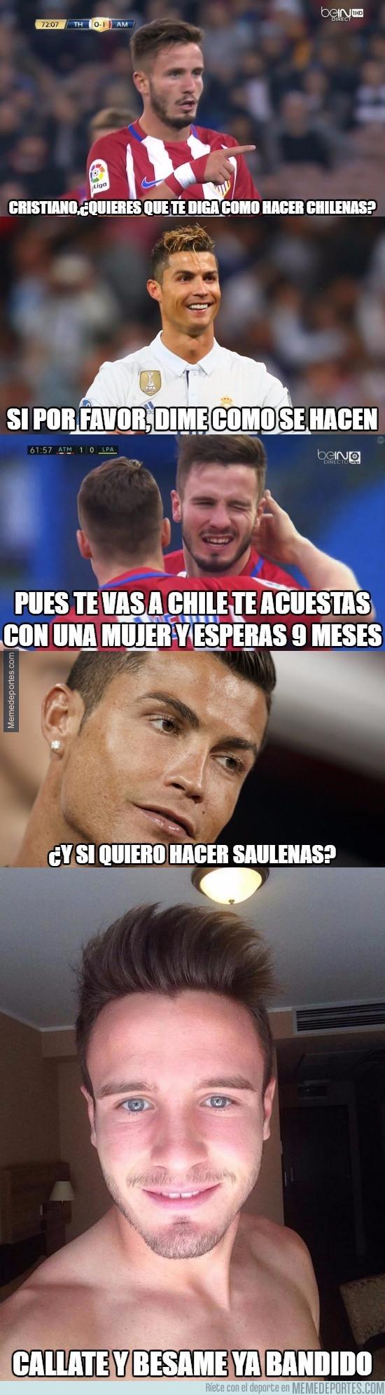982527 - Saúl vuelve a marcar de chilena y le quiere enseñar a Cristiano: ( ͡° ͜ʖ ͡°)