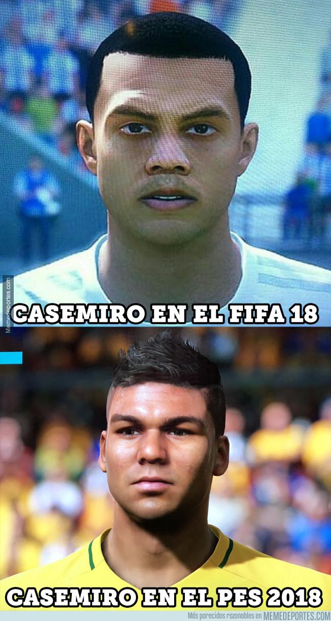 982545 - Sale a la luz la cara de Casemiro en el FIFA 18 y es lo más horrendo jamás creado