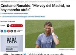 Enlace a Messi opina sobre el anuncio de Cristiano de irse del Real Madrid