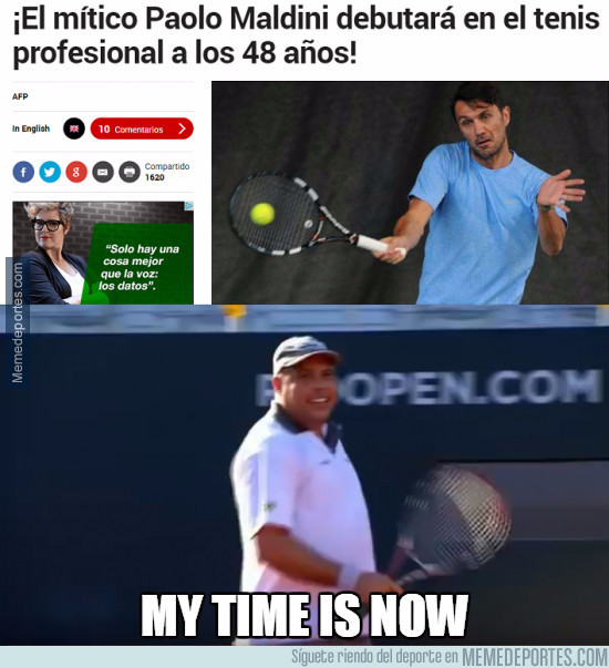 982669 - ¡Maldini se estrena al tenis!