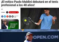 Enlace a ¡Maldini se estrena al tenis!