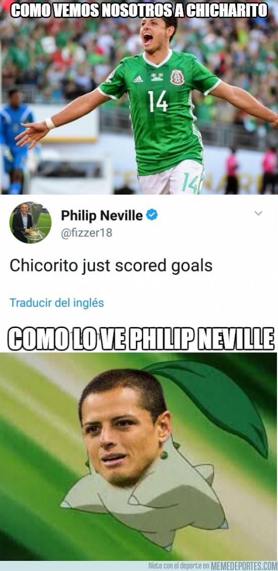 982791 - Neville y su peculiar forma de ver a Chicharito