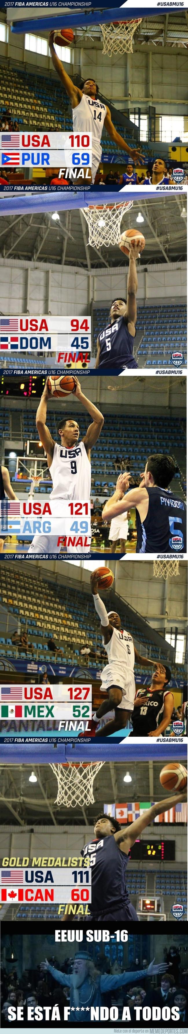 982798 - EEUU sub-16 de baloncesto está arrasando en el torneo FIBA Americas