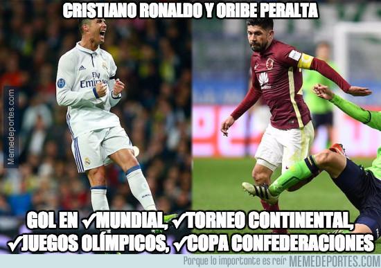 983156 - Cristiano Ronaldo y Oribe Peralta de récord