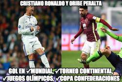 Enlace a Cristiano Ronaldo y Oribe Peralta de récord