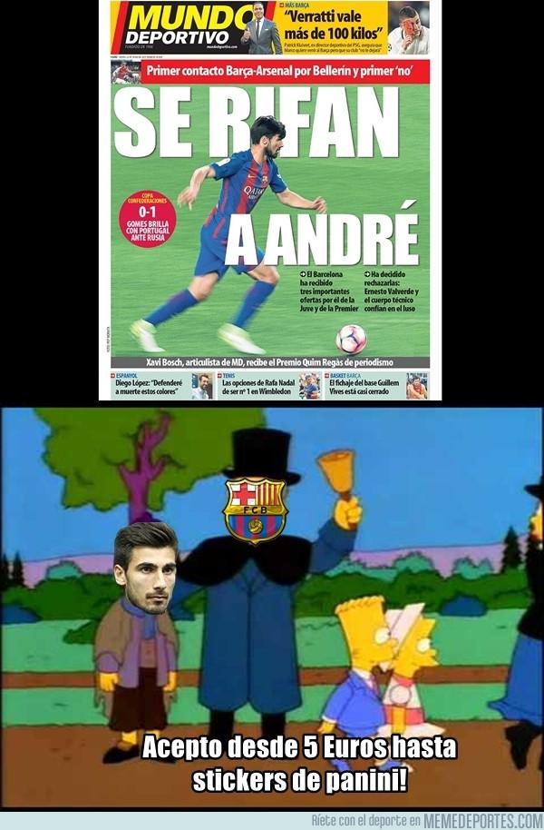 983179 - El Barcelona tratando de vender a Gomes al primero que pregunte