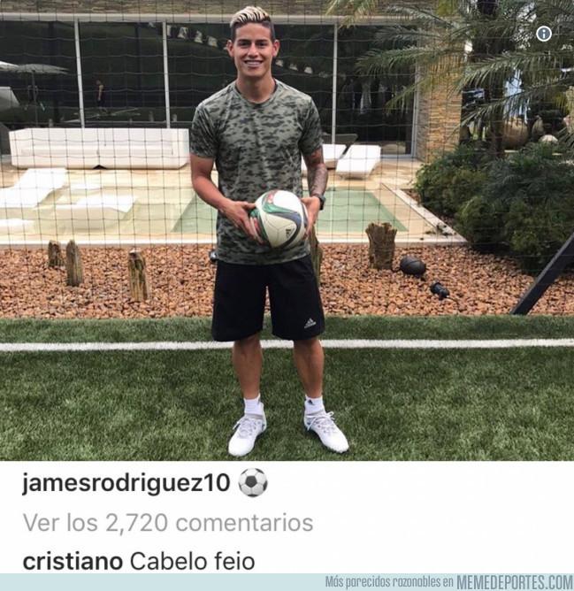 983188 - CR7 se burla del nuevo 'look' de James Rodríguez