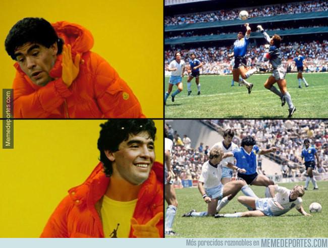 983225 - Se cumplen 31 años de los dos goles más famosos de Maradona