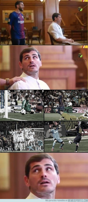 983233 - Casillas se topa con 'Messi' en mitad de una entrevista