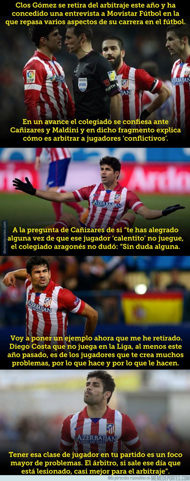 983254 - El árbitro que desvela lo que sufría cuando Costa jugaba en el Atleti