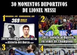 Enlace a 30 Momentos inmessionantes de Messi