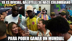 Enlace a Ya es oficial, Balotelli se hace colombiano