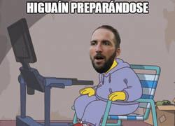 Enlace a Higuaín preparándose ya está a tope