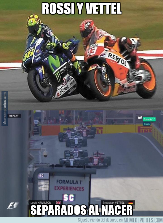 983700 - Rossi y Vettel, tal para cual