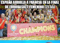 Enlace a España arrolla a Francia en la final de Eurobasket femenino (71-55)