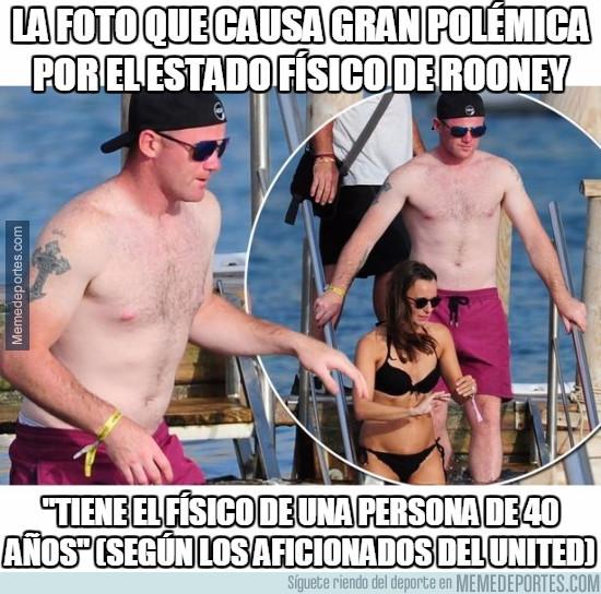 983913 - La foto que causa gran polémica por el estado físico de Rooney