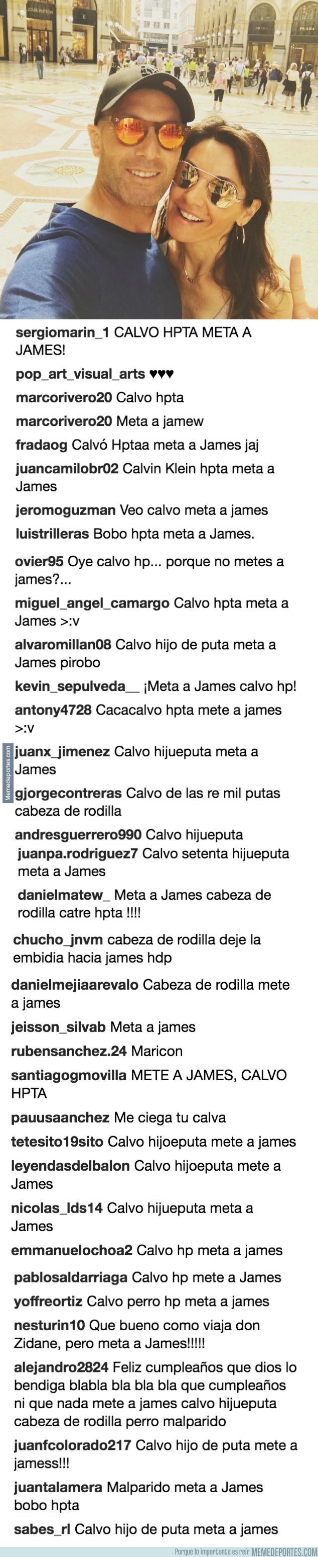 983962 - Zidane sube una foto a Instagram y los trolls colombianos no tardan ni 1seg en aparecer